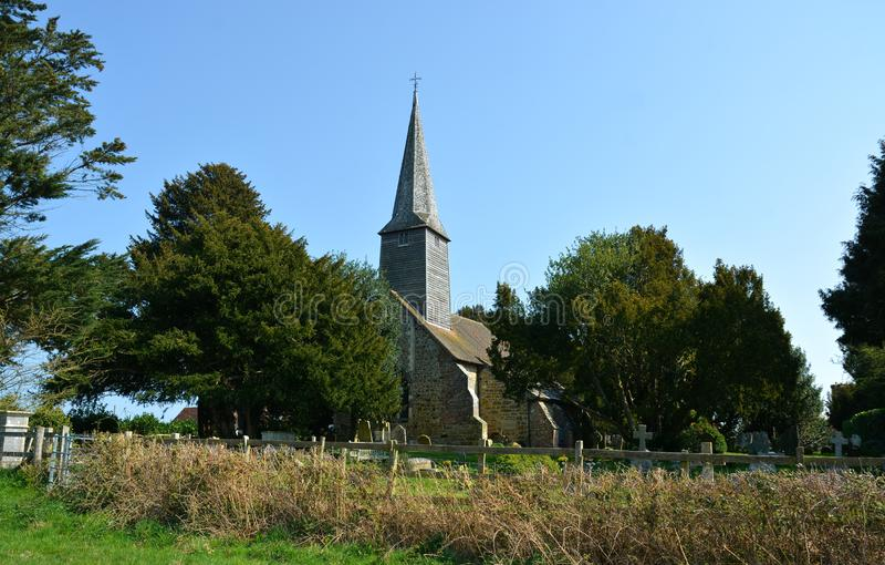 St George kościół, Crowhurst, Surrey, UK obrazy royalty free