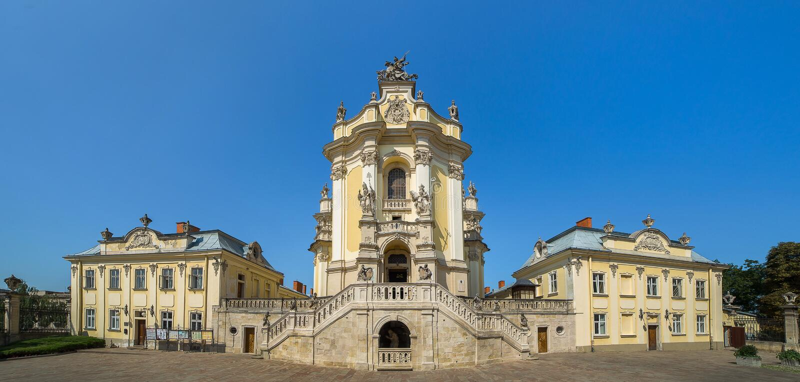 St George kościół w Lvov Ukraina fotografia stock