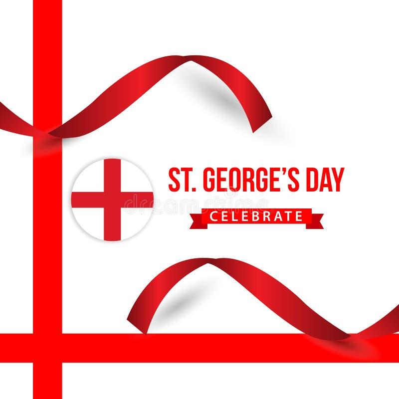St George ' ; le jour de s c?l?brent l'illustration de conception de calibre de vecteur illustration stock