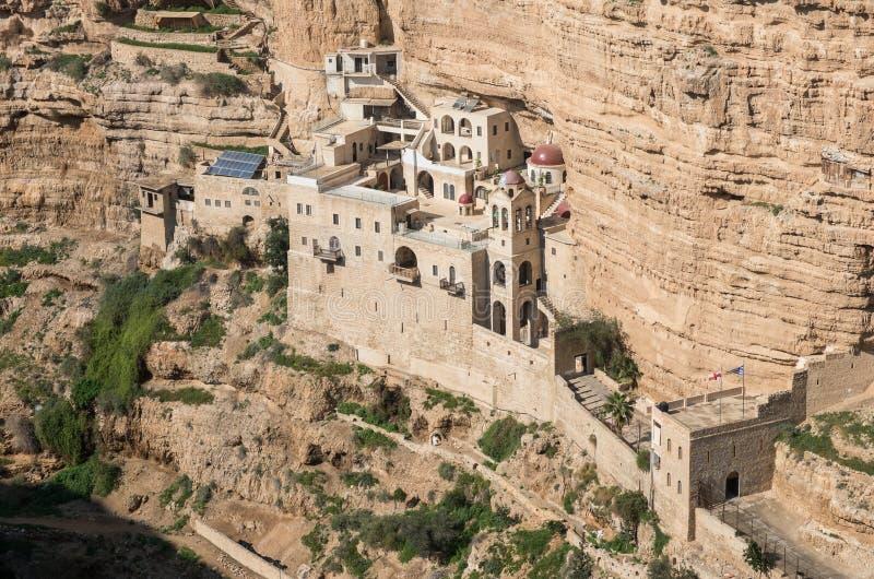 St George monaster, zachodni bank, Israel zdjęcie stock