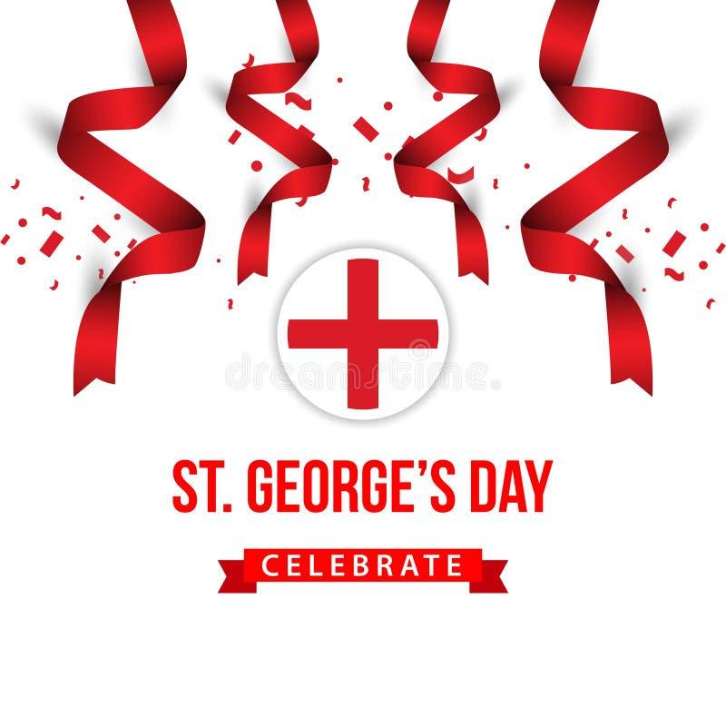 St George ' o dia de s comemora a ilustração do projeto do molde do vetor ilustração royalty free