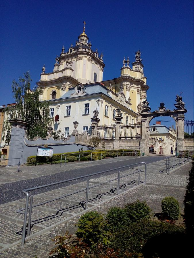 St. George`s Cathedral in Lviv, Ukraine. Saint George Cathedral. royalty free stock images