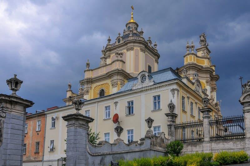 St. George`s Cathedral - Lviv, Ukraine stock image