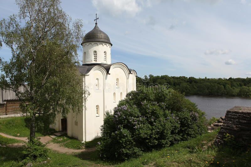 St. George's Cathedral. Staraya Ladoga. St. George's Cathedral is located on the territory of Staraya Ladoga fortress and is its chief ornament. It was built in stock images