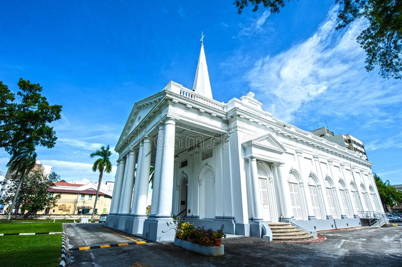 ST GEORGE CHURCH - PENANG. St. George`s Chruch is set next door to the Penang State Museum & Art Gallery. Built in 1817 by the East India Company using convict royalty free stock photography
