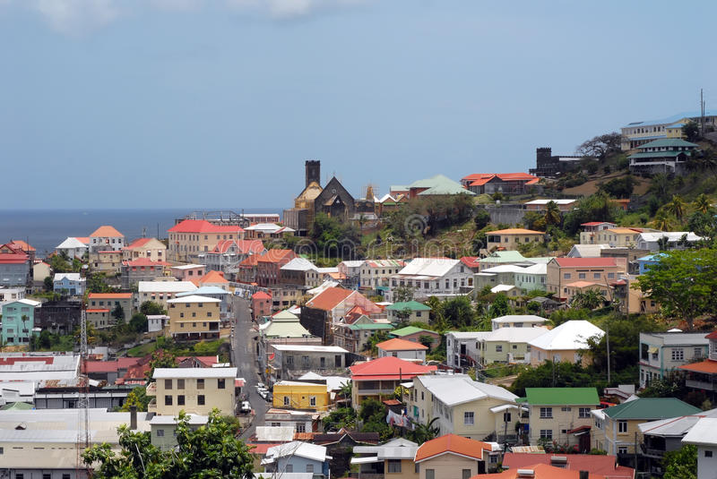Download St George's Grenada stock photo. Image of church, roof - 26881118