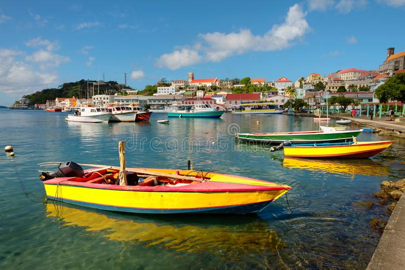 St. George`s Harbour, Grenada royalty free stock photos