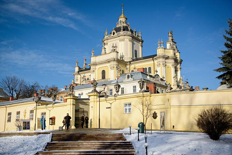 St- George` s Kathedralen-Heiliges Jura lizenzfreies stockbild