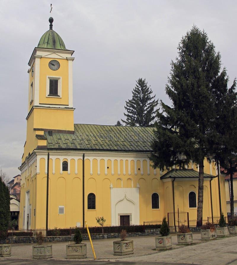 St George ` s Kerk in Uzice royalty-vrije stock afbeelding