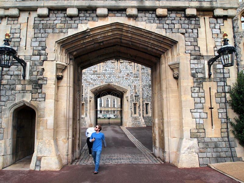 St George ` s Poort, Windsor Castle, Engeland, het UK royalty-vrije stock foto's