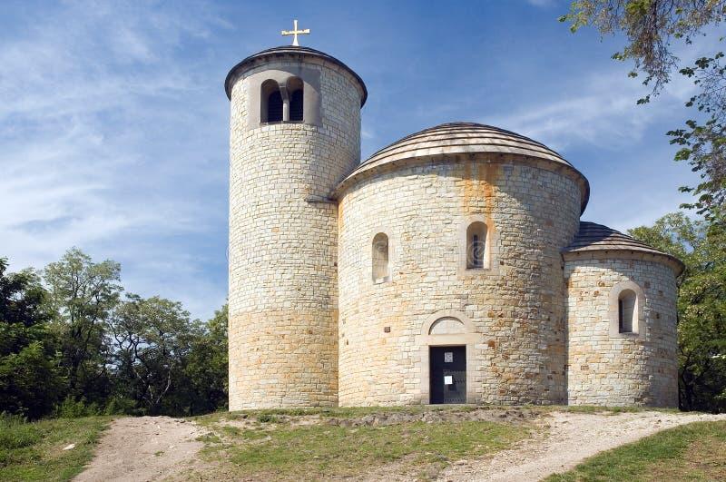 St. George's rotunda. Rotunda on the Rip mountain, Czech Republic royalty free stock image