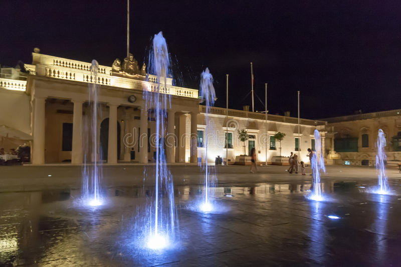 St George's Square, the main square of Valletta. The capital of Malta. It is also known as Palace Square stock photo