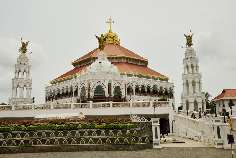 St. George`s Syro Malabar Forane Church, Edapally, Kerala, India. The church, popularly known as Edappally Pally, was a small structure at the time of its stock photo