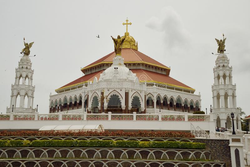 St George ` s Syro Malabar Forane kościół, Edapally, Kerala, India fotografia stock