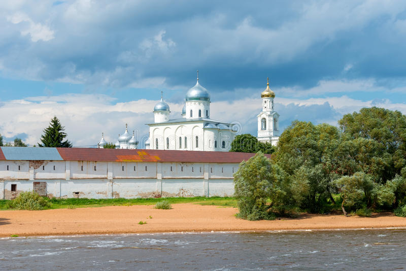 The St. George`s Yuriev Monastery stock photography