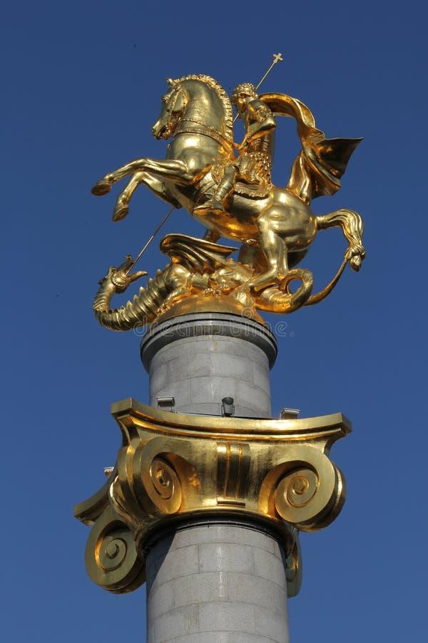 St George standbeeldvrijheid Vierkant Tbilisi Georgië royalty-vrije stock foto's
