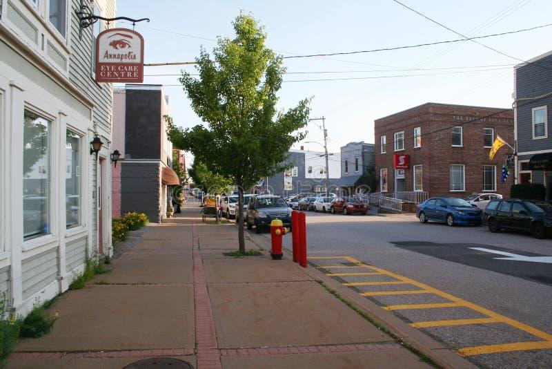 St George ulica w Annapolis Królewskim fotografia royalty free