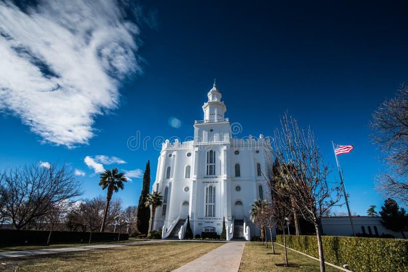 St George Utah Temple imagen de archivo libre de regalías