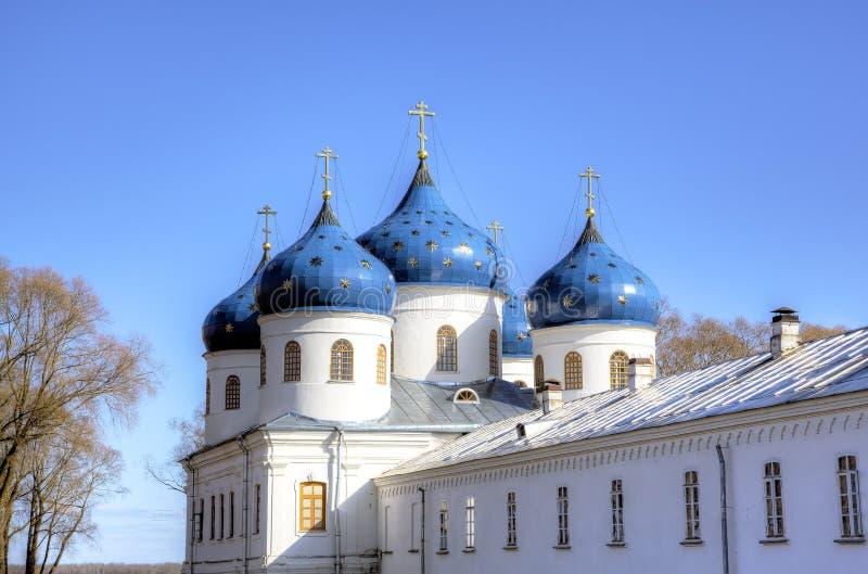 St George (Yuriev) Klooster royalty-vrije stock afbeeldingen