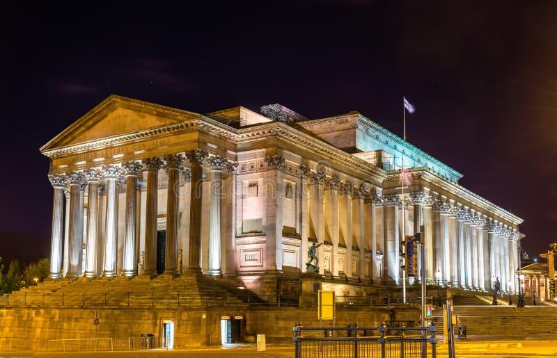 St George Zaal in Liverpool royalty-vrije stock afbeeldingen