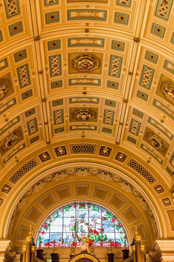 St George Zaalbinnenkant - plafond stock fotografie