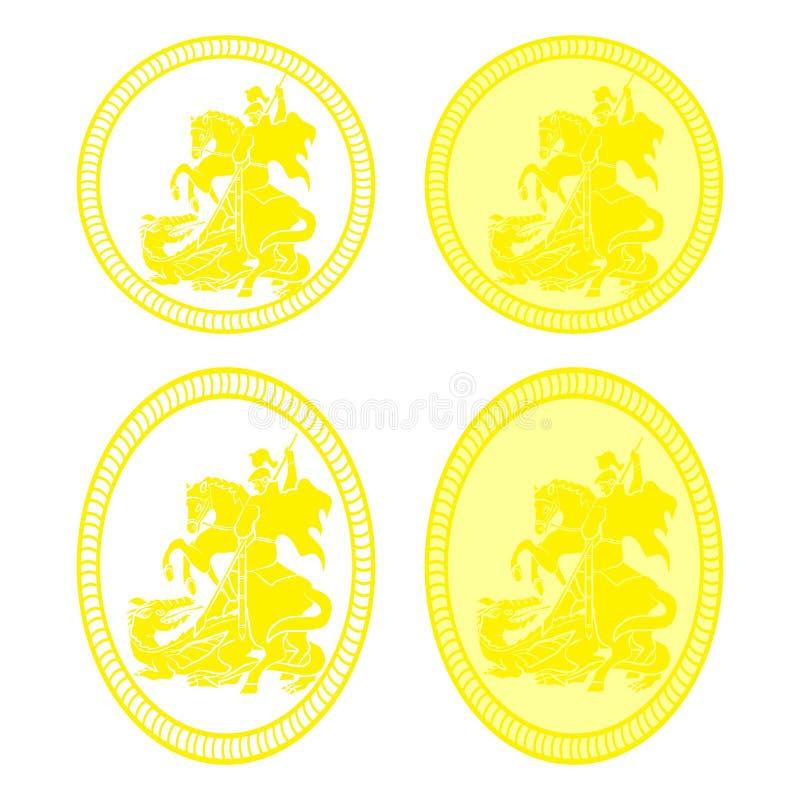 St- Georgemedaille stock abbildung