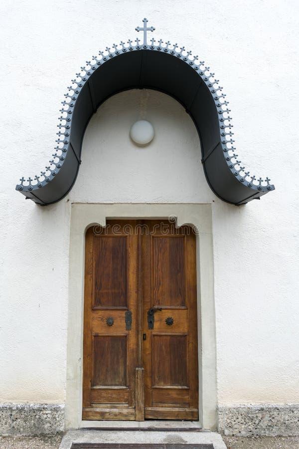 ST GEORGEN, ΆΝΩ ΑΥΣΤΡΊΑ /AUSTRIA - 18 ΣΕΠΤΕΜΒΡΊΟΥ: Πόρτα στοκ εικόνα