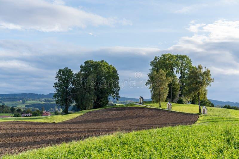ST GEORGEN, ΆΝΩ ΑΥΣΤΡΊΑ /AUSTRIA - 15 ΣΕΠΤΕΜΒΡΊΟΥ: Calvary Chur στοκ φωτογραφίες
