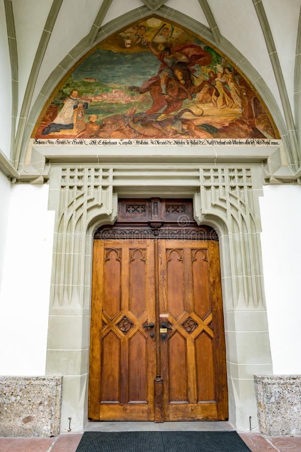 St GEORGEN, AUSTRIA SETTENTRIONALE /AUSTRIA - 18 SETTEMBRE: Porta del fotografie stock