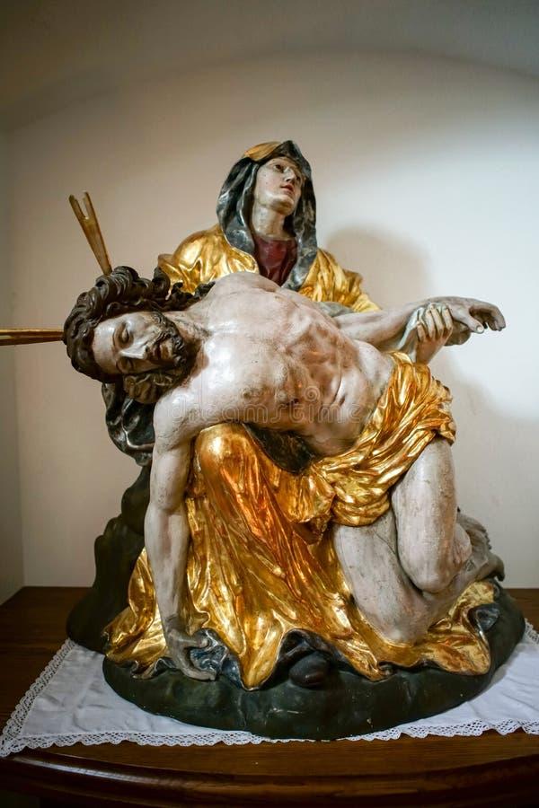 St GEORGEN, AUSTRIA SETTENTRIONALE /AUSTRIA - 18 SETTEMBRE: Statua del Ch fotografia stock libera da diritti