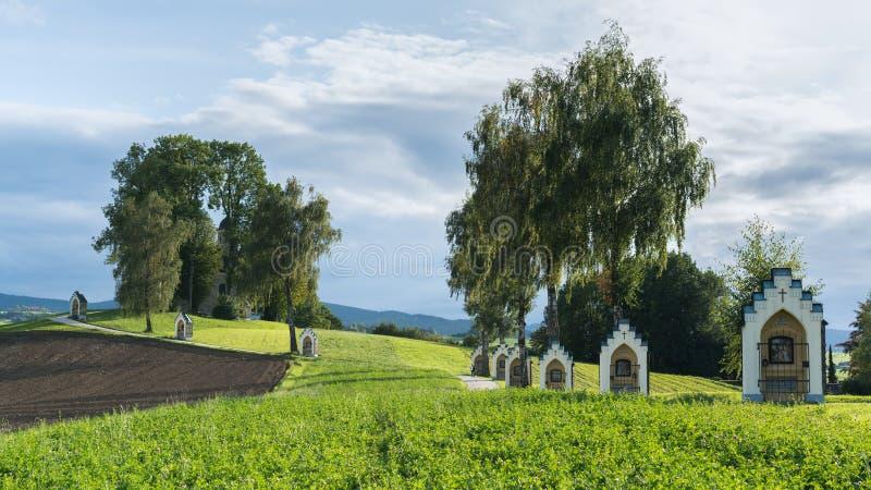 St. GEORGEN, OBERÖSTERREICH /AUSTRIA - 15. SEPTEMBER: Kalvarienberg Chur stockfotografie