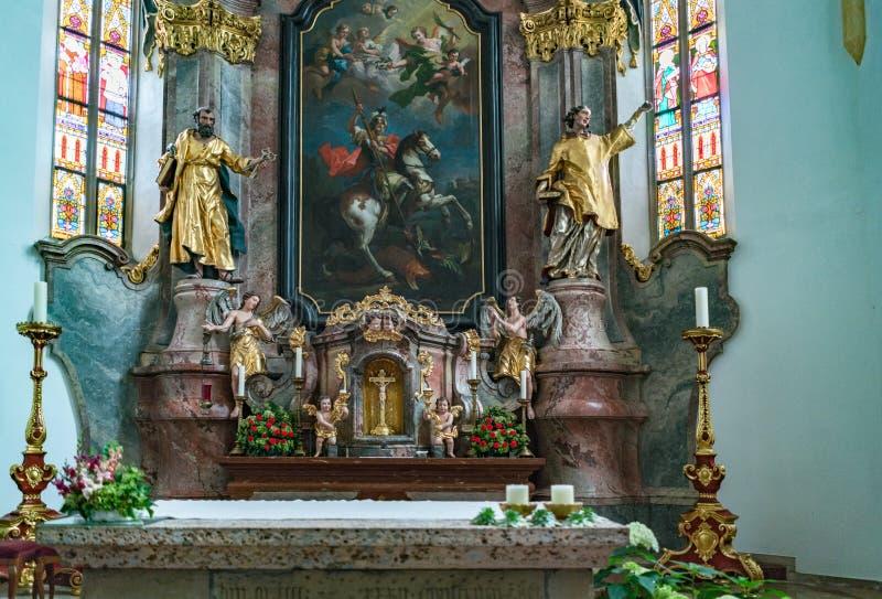 ST GEORGEN UPPER AUSTRIA /AUSTRIA - SEPTEMBER 18: Inre tävlar arkivbilder
