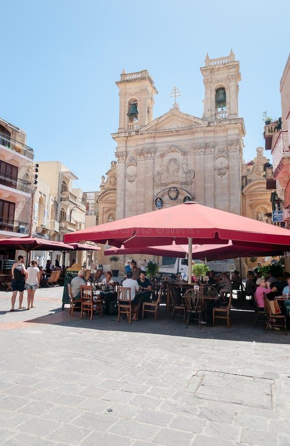 St Georges Basilica a La Valletta, Malta fotografia stock libera da diritti