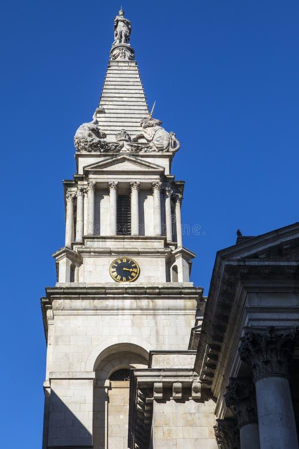 St Georges Bloomsbury en Londres fotos de archivo libres de regalías