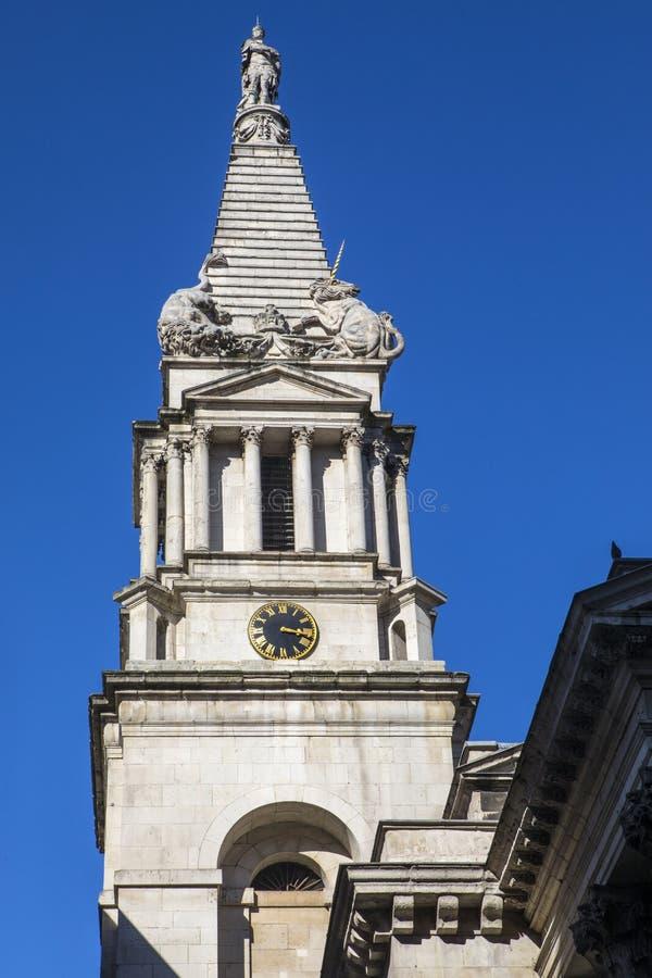 St Georges Bloomsbury en Londres imágenes de archivo libres de regalías