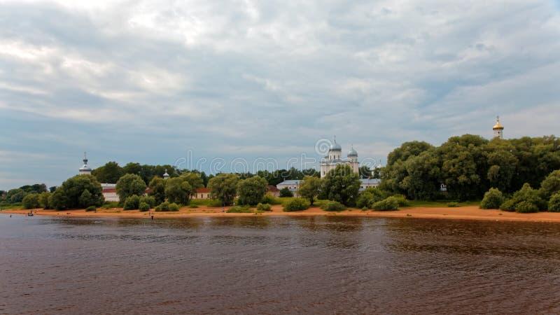 ST Georges Cathedral ST Georges Monastery κοντά σε Novgorod Αρχαία Ορθόδοξη Εκκλησία στοκ φωτογραφίες