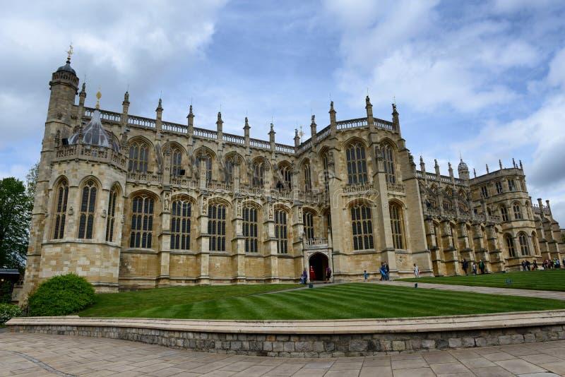 St Georges Chapel, Windsor Castle, UK arkivbilder
