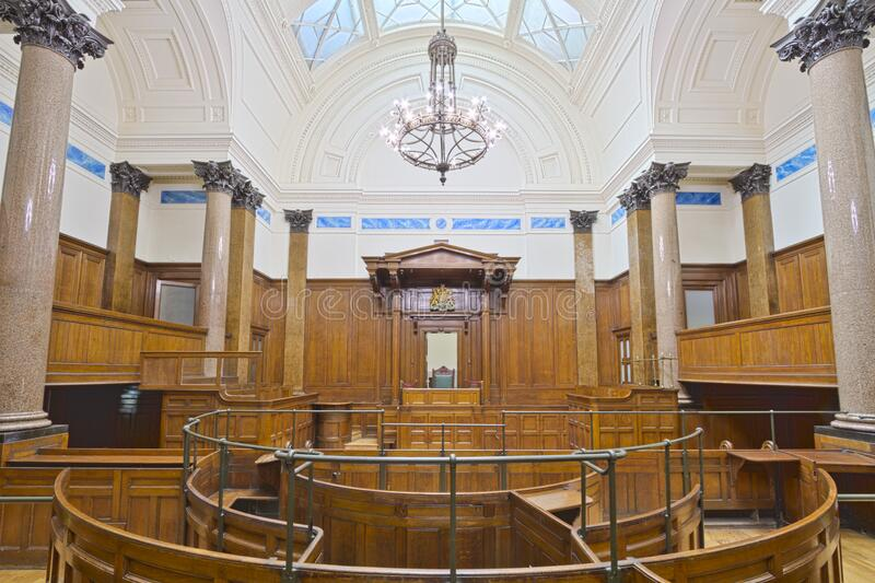 St Georges Hall Court Room royalty free stock images