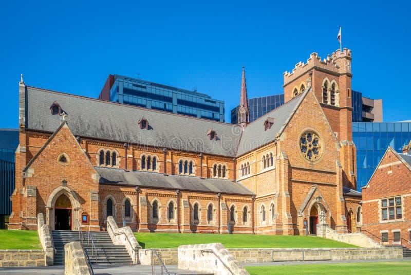 St Georges katedra w Perth, zachodnia australia obraz stock