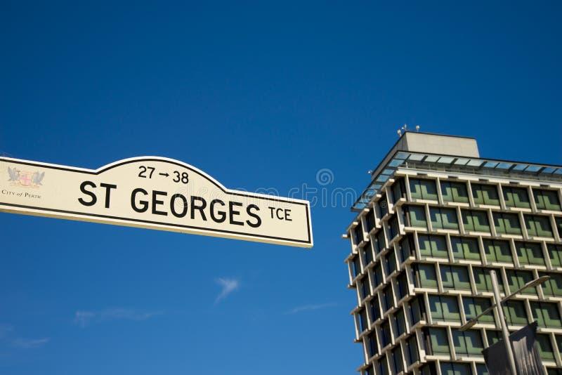 St Georges Street Sign foto de archivo libre de regalías