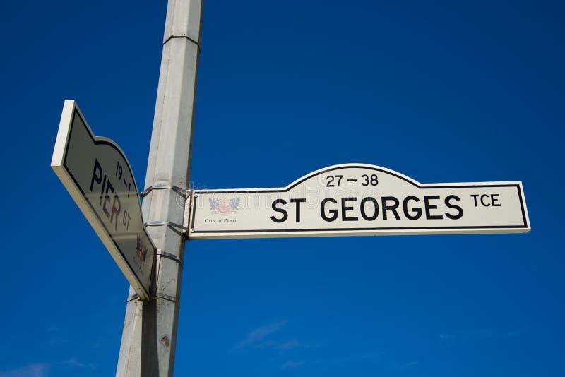 St Georges Street Sign imagen de archivo libre de regalías