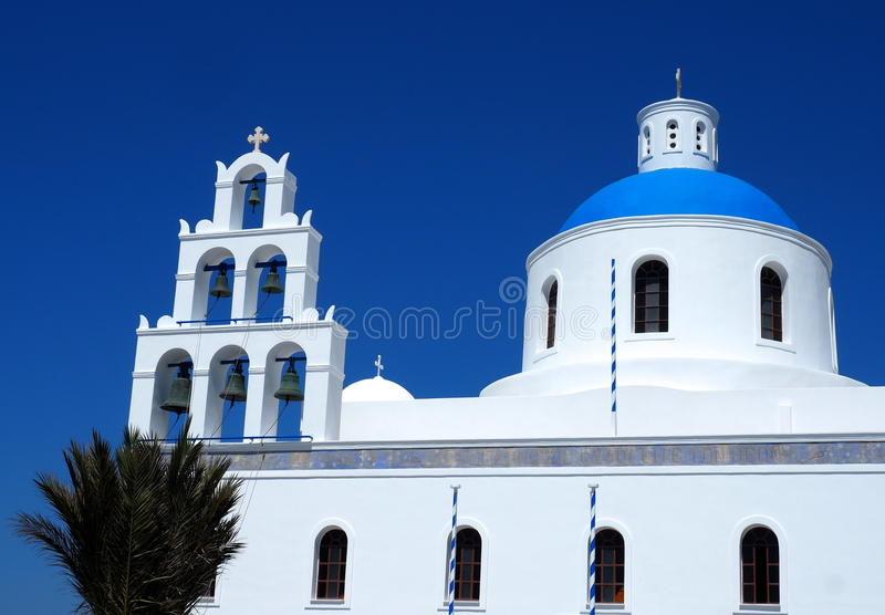St Gerasimos Church Fira, Santorini, Greece stock image