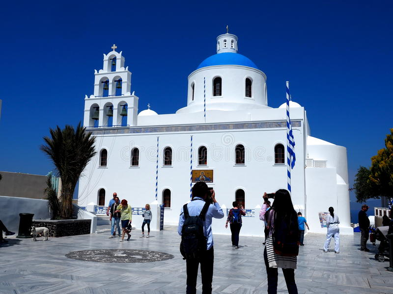 St Gerasimos Church Fira, Santorini, Greece royalty free stock images
