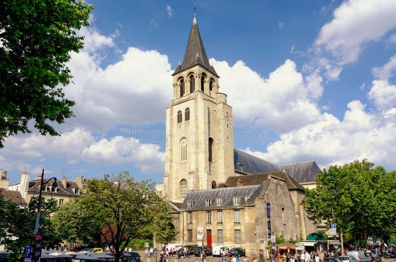 St Germain des Pres i Paris, Frankrike arkivbilder