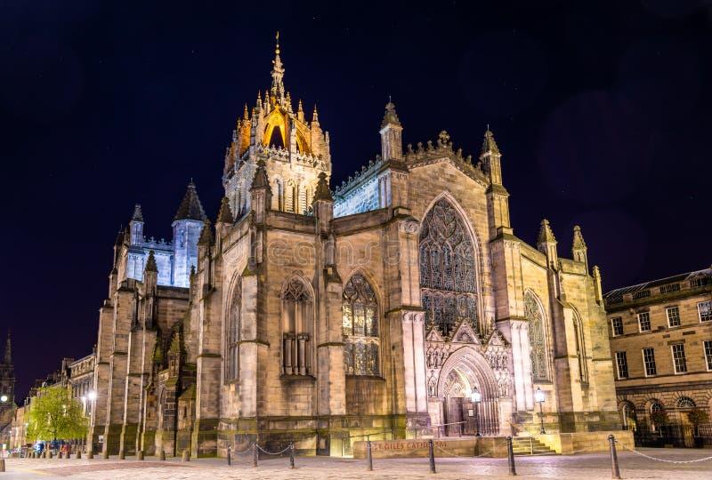 St Giles的大教堂在爱丁堡 免版税库存照片