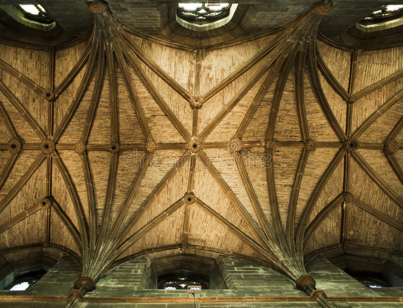 St. Giles Cathedral Ceiling Royalty Free Stock Images