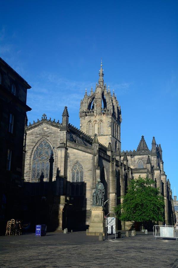 St Giles Cathedral, Edinburg, Skottland royaltyfria bilder
