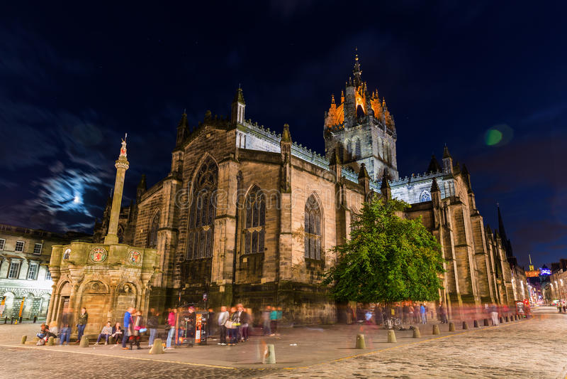 St Giles Cathedral in Edinburgh, Schotland royalty-vrije stock fotografie