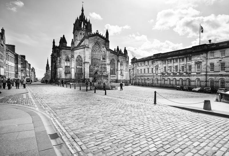 St. Giles Cathedral in Edinburgh, Schottland stockfotografie