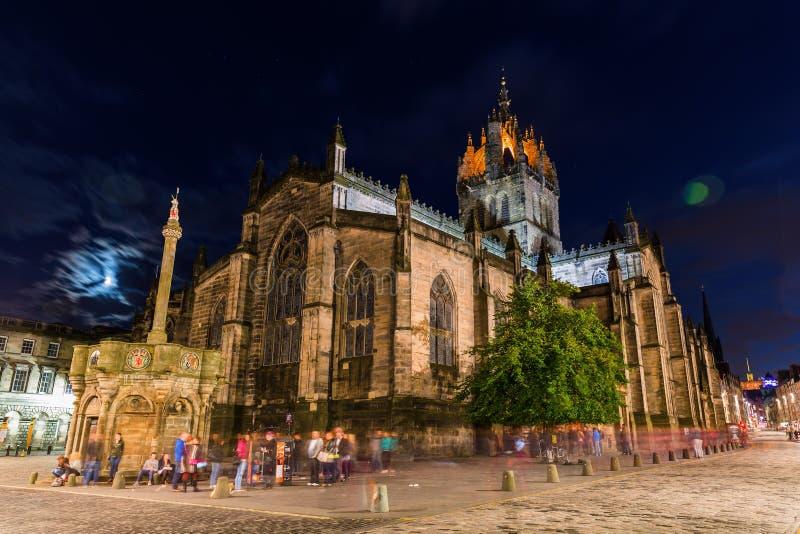 St Giles Cathedral em Edimburgo, Escócia fotografia de stock royalty free